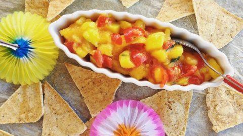 Ricetta Nachos Senza Glutine.Nachos Al Forno Con Salsa Piccante Di Mango Homemade Healthy Nachos With Chipotle Mango Salsa Ricettevegolose